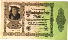 1922 Germany Weimar Republic Huge 50.000  Mark Banknote