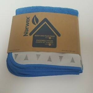 Norwex BODY AND FACE PACK - Blue and Silver (3 cloths)