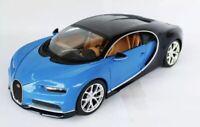 Bburago 1:18 Scale Bugatti Chiron BLUE/BLACK DIECAST MODEL CAR 11040B