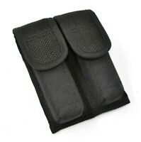 Tactical OWB Black Double Pistol Magazine Pouch/Case/Holder (9mm/40/45 Mag)