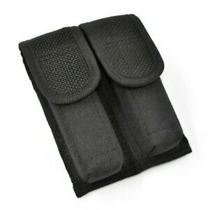 Tactical OWB Black Double Pistol Magazine Pouch/Case/Holder (9mm & 40 Mags)