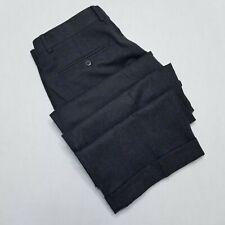 Zanella Dress pants -  double pleated - Flannel - Charcoal black 33x31