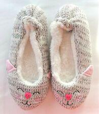 Eaze Knitted Fleece Lined Cat Slippers Size 3/4 36/37 New