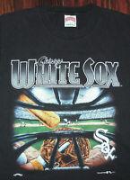 Chicago White Sox T Shirt Vintage 90s Baseball MLB Black South Side Size Large