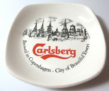Ashtray, CARLSBERG Beer, Copenhagen, Barware, Advertising, Trinket/Change Holder