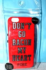VICTORIA'S SECRET PINK DON'T GO BACON MY HEART iPHONE 6/6s Valentine CASE NEW