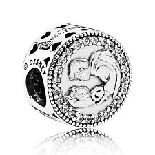 PANDORA 'SNOW WHITES 80TH ANNIVERSARY' CHARM + FREE EARRINGS IN VELVET GIFT BAG