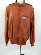 Vintage Camel Cigarette Gear GT Brown Zip Up Jacket Windbreaker Medium MX1