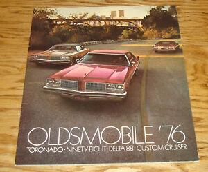 Original 1976 Oldsmobile Toronado Ninety Eight Delta 88 Cruiser Sales Brochure