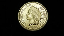 1863 Copper Nickel Indian Head Cent - High Grade Double Die
