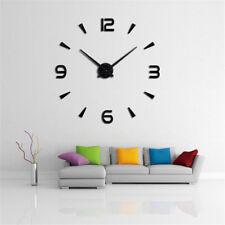 Moderne 3D Spiegel  Wanduhr Uhr DIY Wandaufkleber Nummer Uhr Wandbilder-Tatto