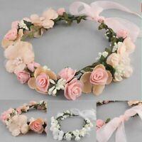 Bridal Hair Wreath Flower Headband Hairwear Birthday Party Wedding Accessories
