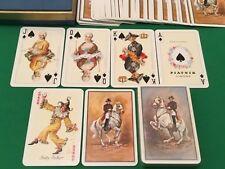 TWIN SET Vintage PIATNIK Non Standard ** ROCOCO ** Playing Cards WHITE HORSES