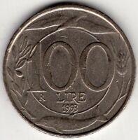 1993  ITALY 100 LIRE  NICE WORLD COIN