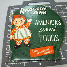 Vintage Raggedy Ann Sewing Needle Book, America Finest Foods, for goodness sake