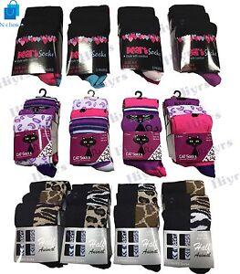 Womens Socks Assorted Fashion Designer Everyday Socks animal print lot Size 4-6