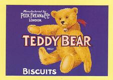 MAYFAIR  ADVERTISING  POSTCARD   -  PEEK  FREAN  TEDDY  BEAR  BISCUITS