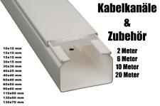 PVC Kabelkanal Kabelleiste Brüstungskanal vorgebohrt diverse Größen und Farben