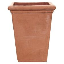 30cm Terracino Camelia Square/Planter/Garden Plant Pot/Tub/Tapered/Terracotta