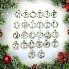 26pcs Wooden Wood Letters Alphabet Christmas Gift Tag For Wedding Party Favors