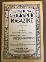 National Geographic November 1923 The Story of Horse & Horse of the World