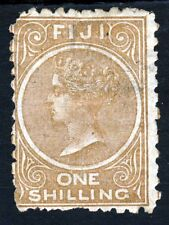 FIJI Queen Victoria 1881 One Shilling Pale Brown Perf 10  SG 64 MINT