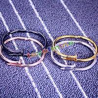 Hot Nail Design Bangle Cuff Bracelet Bangle Chain Nail bracelet Titanium steel
