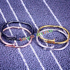 Hot Nail Design Bangle Cuff Bracelet Bangle Chain Nail bracelet Titanium steel