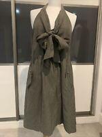 Gorgeous la fee maraboutee Khaki Silk Dress Vgc Size M