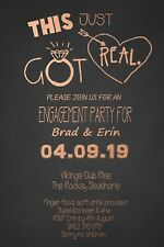ENGAGEMENT Invitation | Save the date | Wedding | Party | Rose gold | Engaged