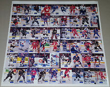 1994 Hockey Wit Rare Uncut Sheet WAYNE GRETZKY Mario Lemieux TERRY SAWCHUK /500