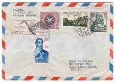 Sobre aéreo circulado España-EE.UU. 1967
