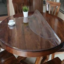 Waterproof PVC Tablecloth Round Clear Table Cloth Cover Oil Proof Dining Mat