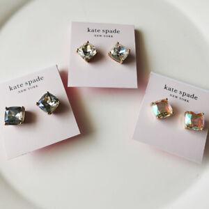 New Kate Spade Square Stud Earrings Gift Fashion Women Jewelry 3Colors Chosen
