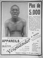 PUBLICITÉ DE PRESSE 1909 VOIGTLANDER & SOHN APPAREILS ET OBJECTIFS - ADVERTISING