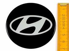 HYUNDAI ★ 4 Stück ★ SILIKON Ø70mm Aufkleber Emblem Felgenaufkleber Radkappen