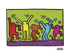 Untitled, 1987 (dance) by Keith Haring Art Print Jump Dancing Pop Poster 11x14