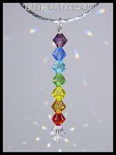 m/w Swarovski Chakra Color Beads Pendant S Silver SunCatcher Lilli Heart Designs