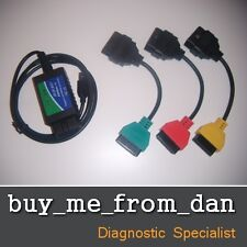 ALFA FIAT DIAGNOSTIC LEADS ELM ADAPTERS OBD2 ENGINE AIRBAG CAN ECU MULTIECUSCAN