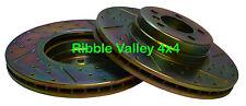 RANGE ROVER L322 FRONT BRAKE DISCS TERRAFIRMA SDB000201 & FERODO PADS SFC500080D