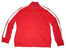 Polo Ralph Lauren Red White Baseball Varsity Fleece Coat Jacket Medium