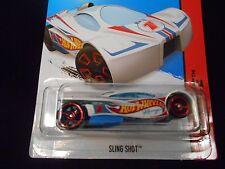 HW HOT WHEELS 2014 HW RACE #141/250 SLING SHOT HOTWHEELS WHITE RACE TRACK READY