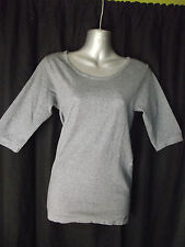 BNWT Womens Sz 10/12 Bella B Wear Designer Label Round Neck Grey Top RRP $50