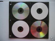 800 BLACK 8 Disc CD DVD Binding Binder SLEEVE  SF005BLK