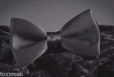 New Men's Black Bow Tie Tuxedo Satin Pre Tied Formal Tux Shirt Adj. TUXXMAN