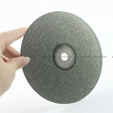 "6"" Grit #150 Diamond Coated Flat Lap Wheel For Lapidary Grinding Disc Disk Tool"