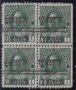 Canada Precancel stamp - Calgary 1-104-I (Invert Block), CV $30.00
