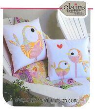 Bird Cushion PATTERN - Claire Turpin - 2 Designs in Applique Cushion Pattern