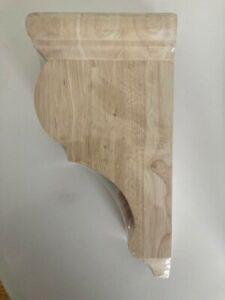 "Wood Corbel (Cabinet, Shelf, Rangehood) 12"" Tall 6-1/2"" Deep 3-1/8"" Wide"