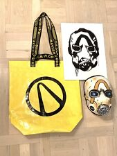 E3 2019 Borderlands 3 exclusive booth bag Psycho mask art prints